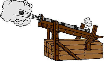 the development of the gunpowder and cannons during the middle ages